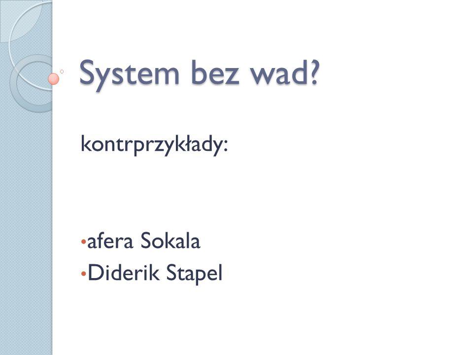 kontrprzykłady: afera Sokala Diderik Stapel