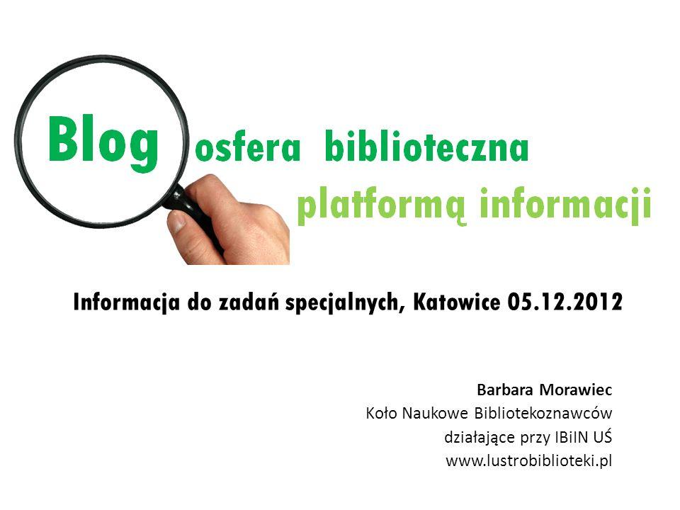 Informacja do zadań specjalnych, Katowice 05.12.2012
