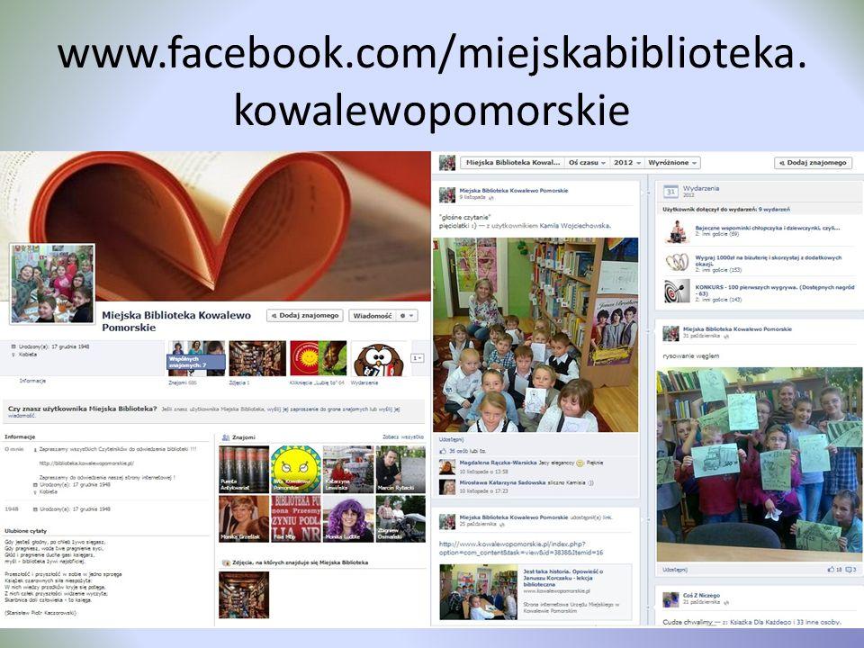 www.facebook.com/miejskabiblioteka.kowalewopomorskie