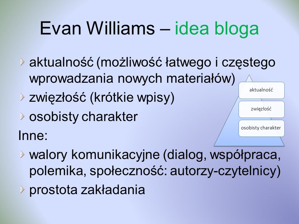 Evan Williams – idea bloga