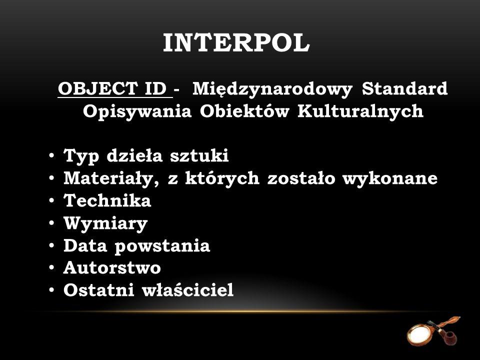 OBJECT ID - Międzynarodowy Standard Opisywania Obiektów Kulturalnych