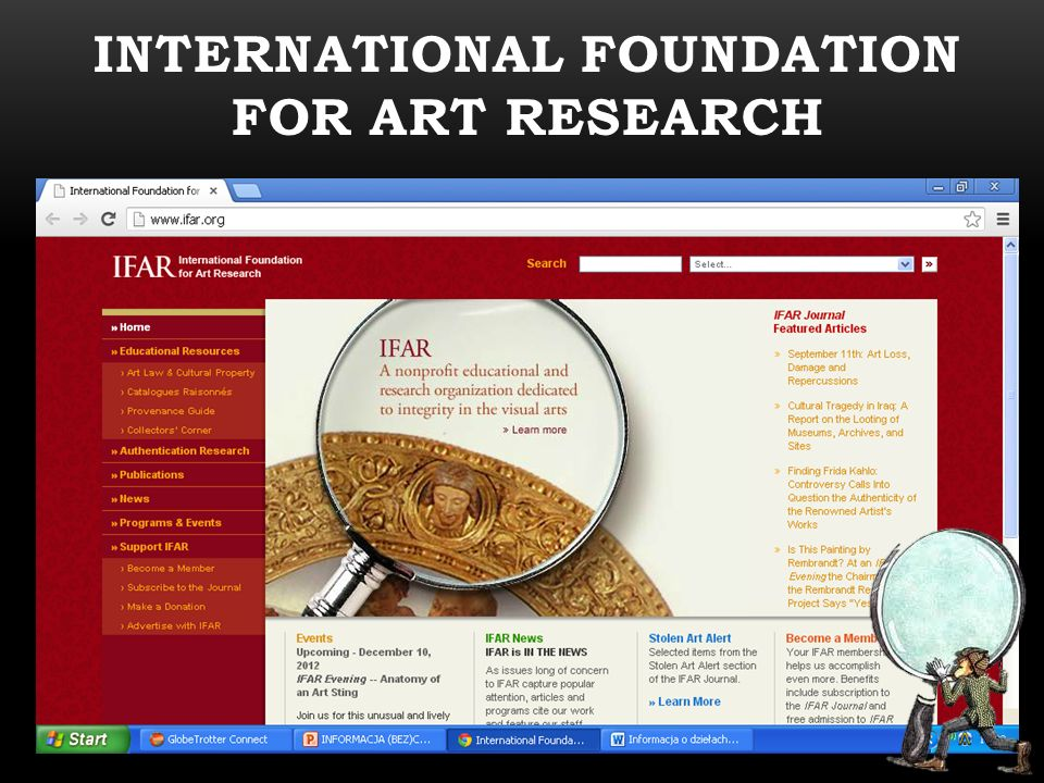 International foundation for art research