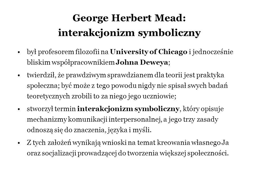 George Herbert Mead: interakcjonizm symboliczny