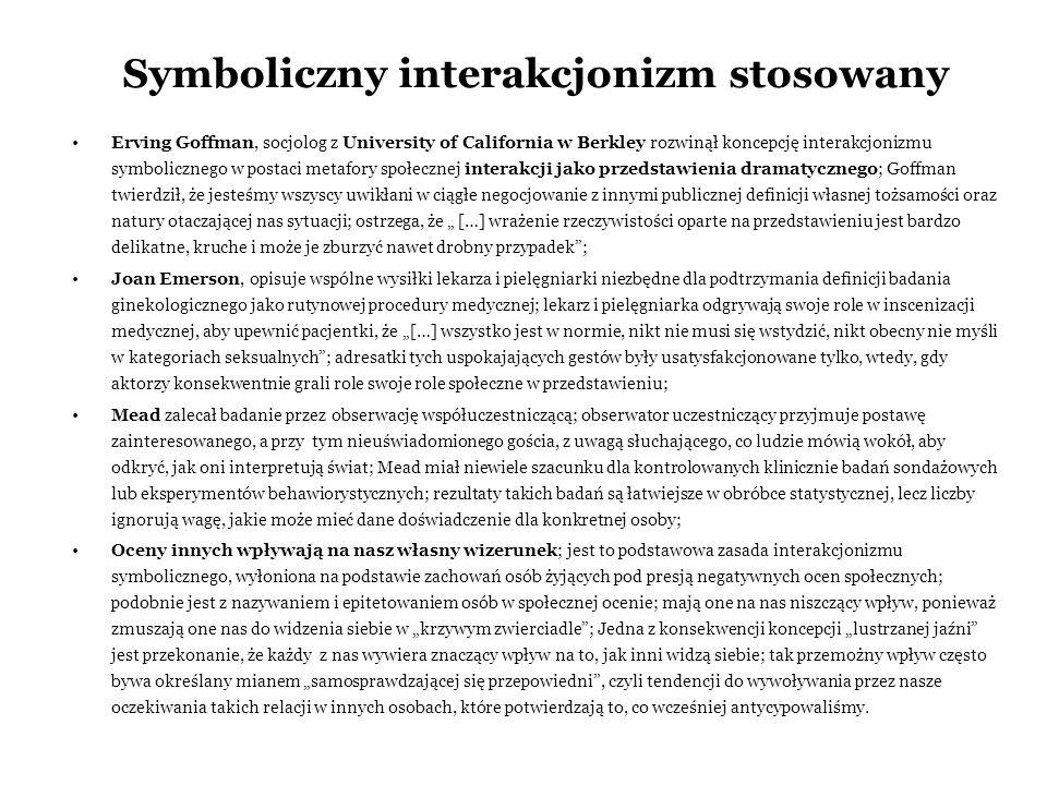 Symboliczny interakcjonizm stosowany