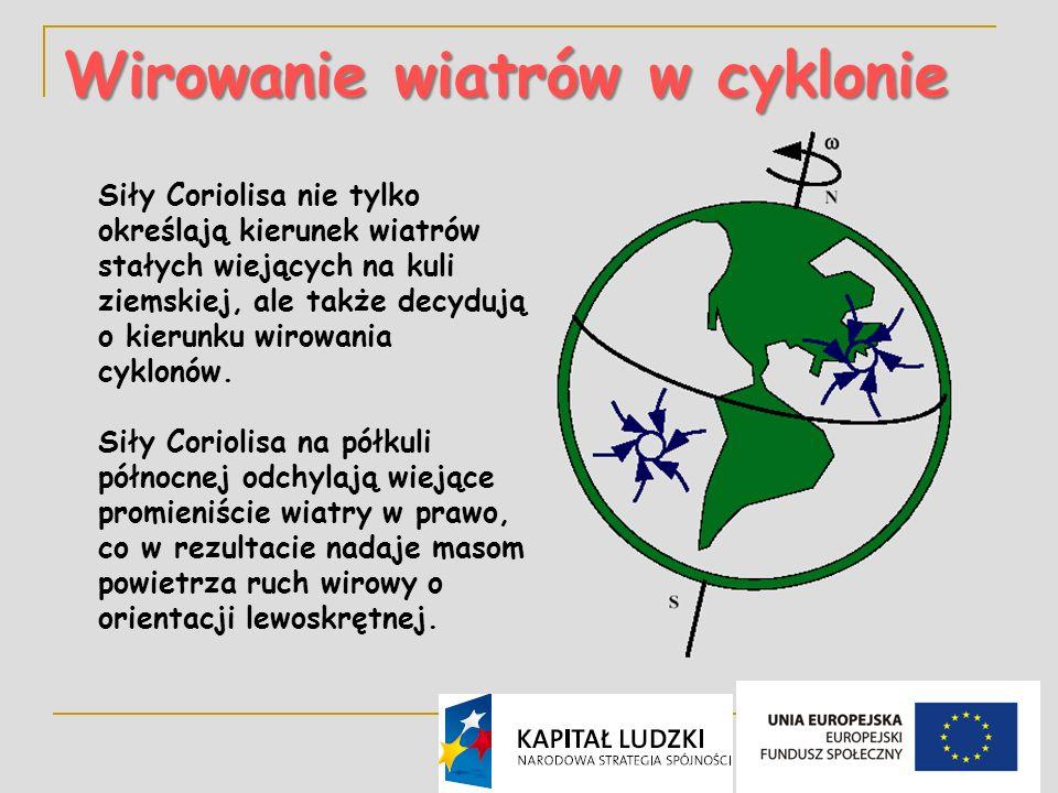 Wirowanie wiatrów w cyklonie