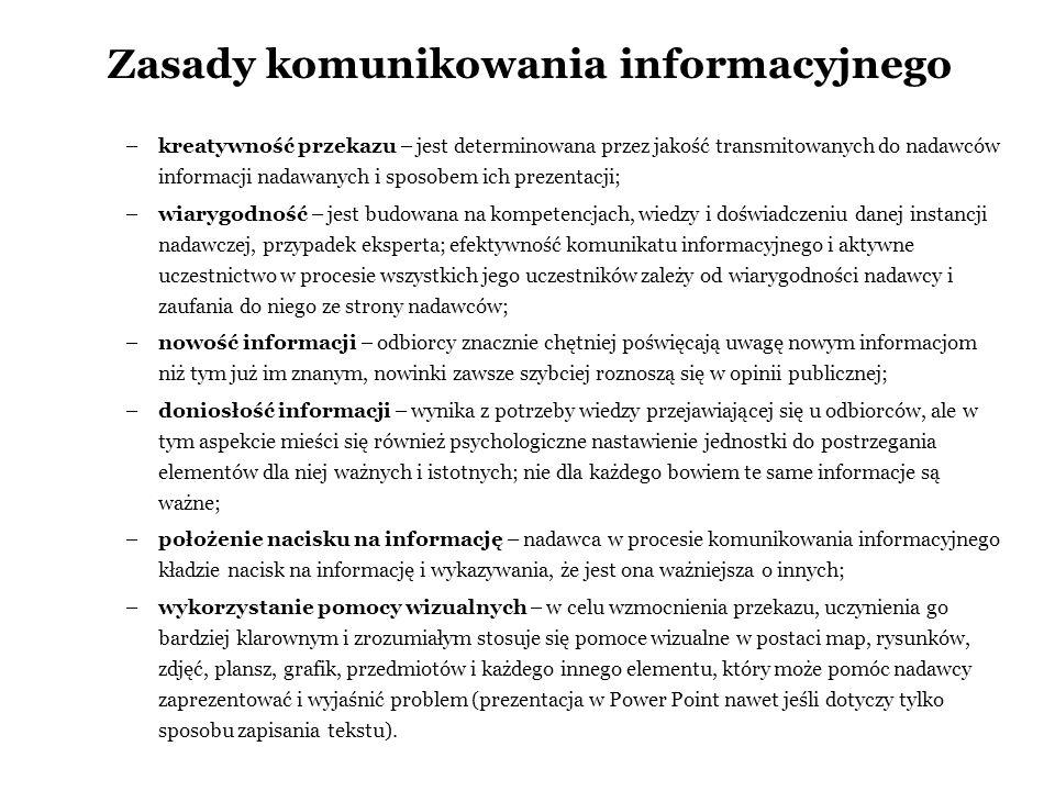 Zasady komunikowania informacyjnego