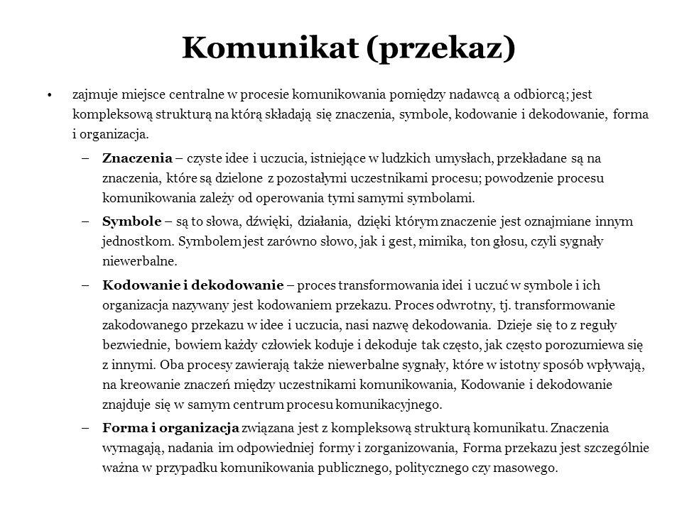 Komunikat (przekaz)