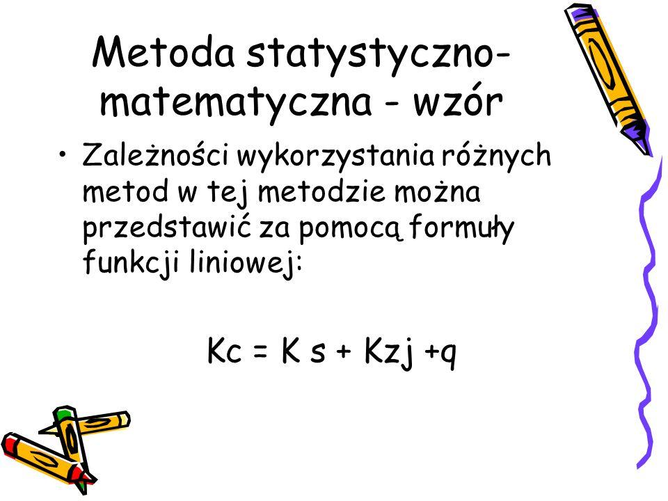 Metoda statystyczno-matematyczna - wzór