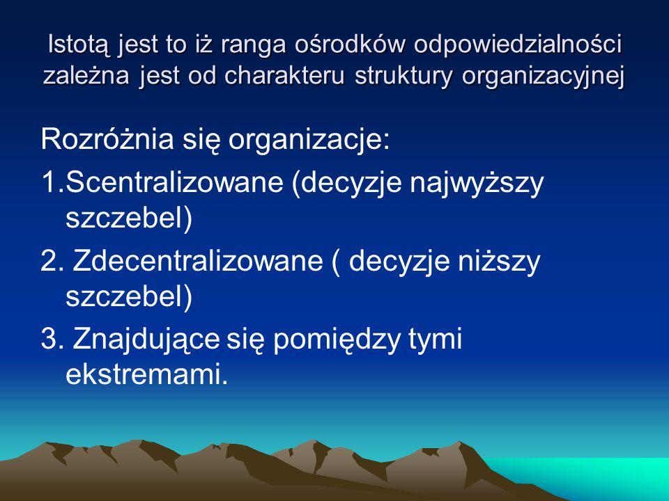 Rozróżnia się organizacje: