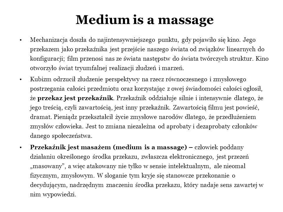 Medium is a massage