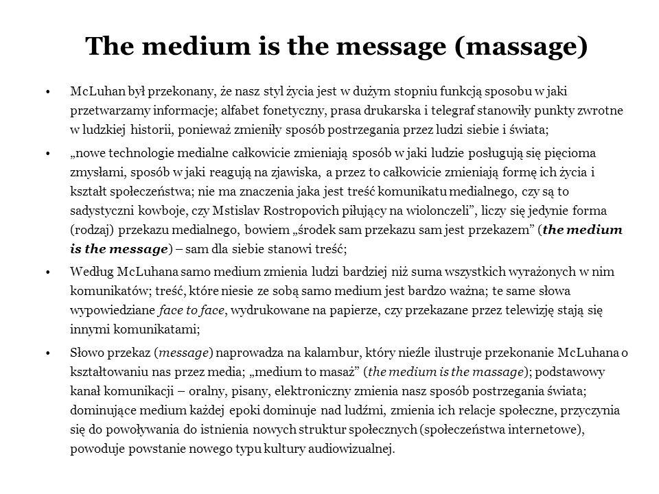 The medium is the message (massage)