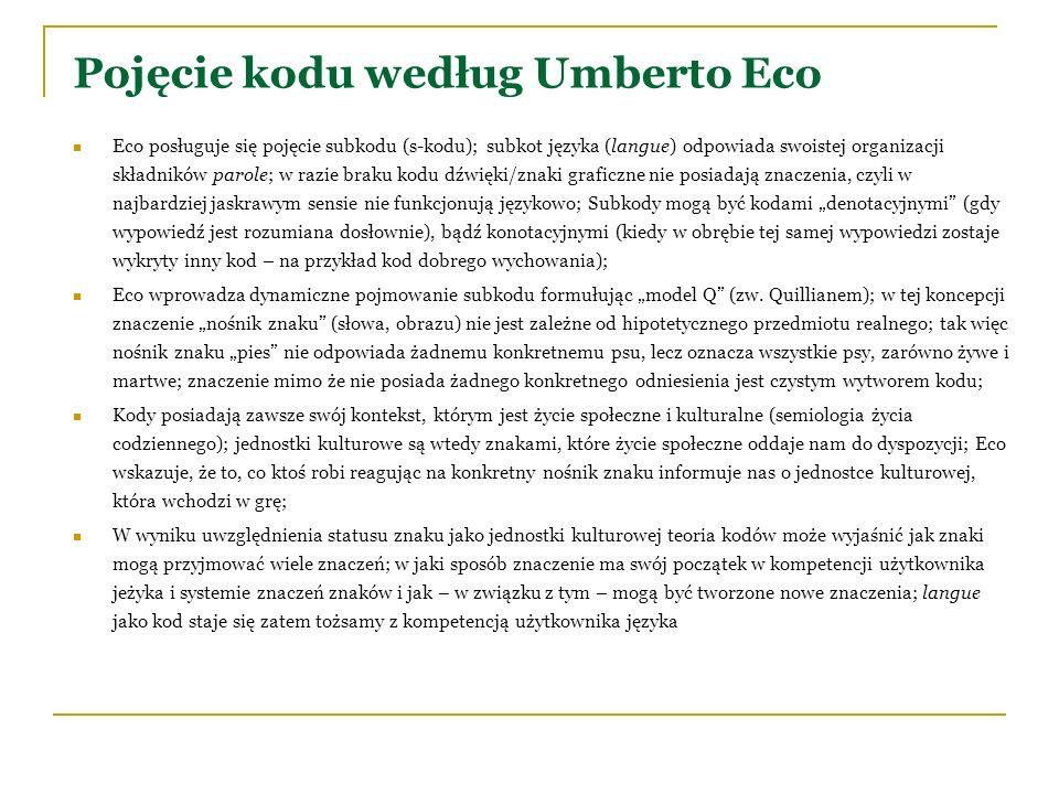 Pojęcie kodu według Umberto Eco