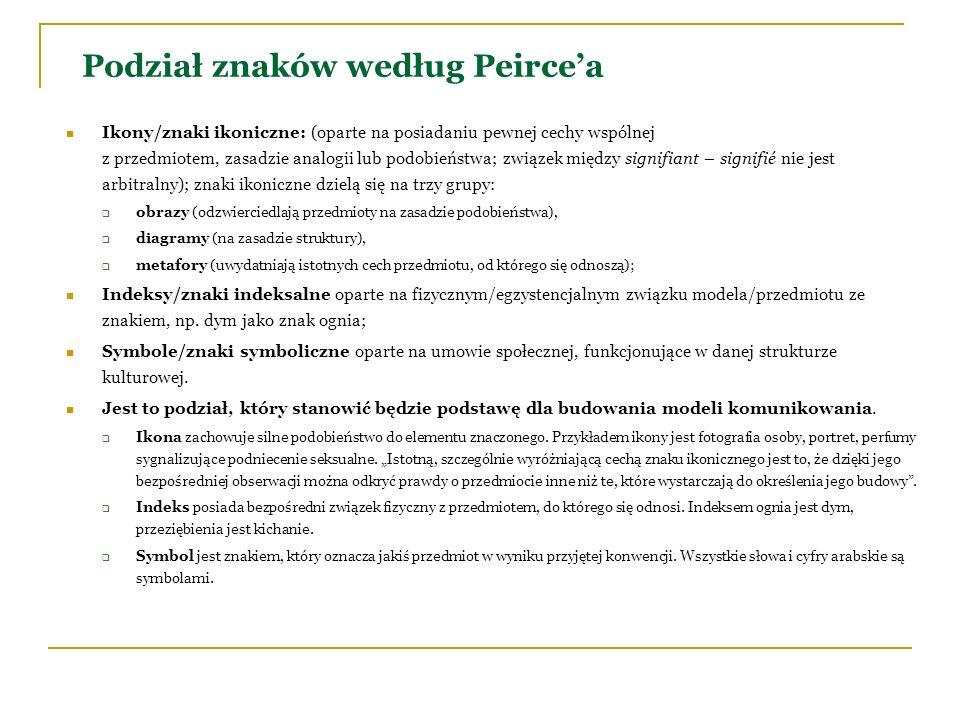 Podział znaków według Peirce'a