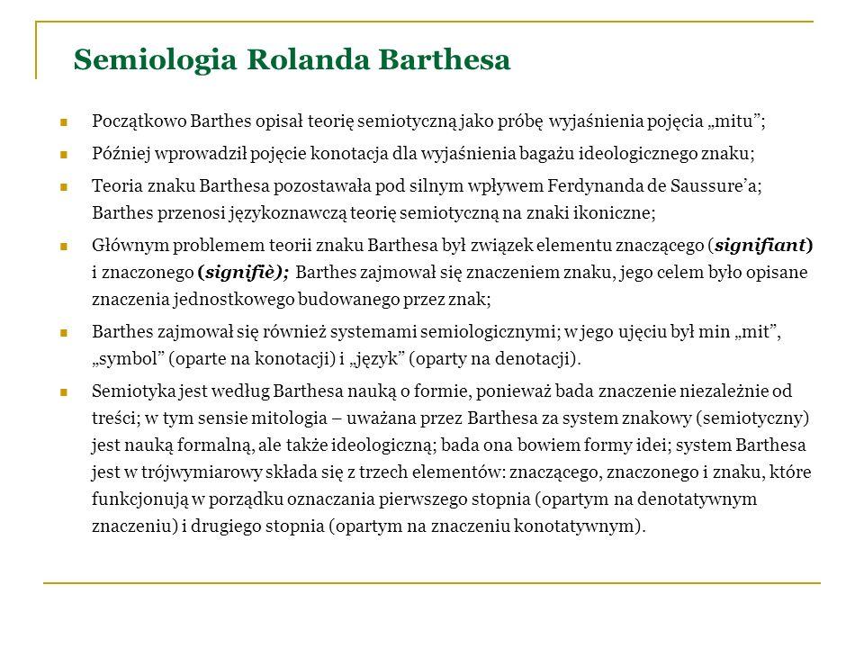 Semiologia Rolanda Barthesa