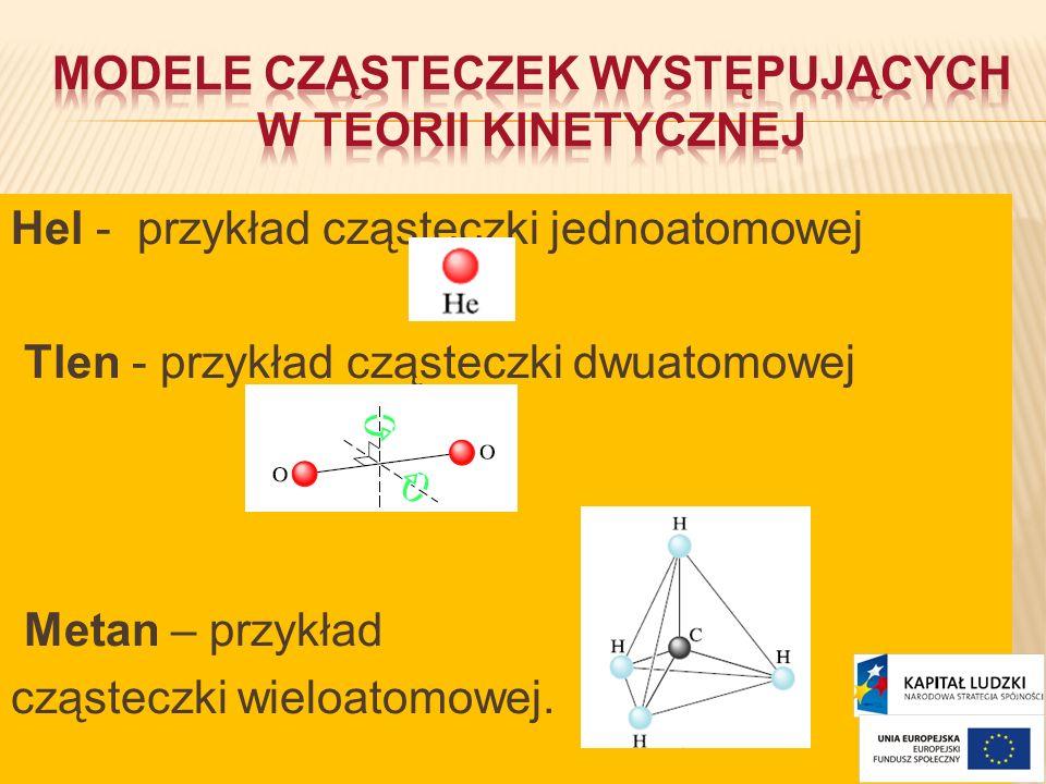 Modele cząsteczek występujących w teorii kinetycznej