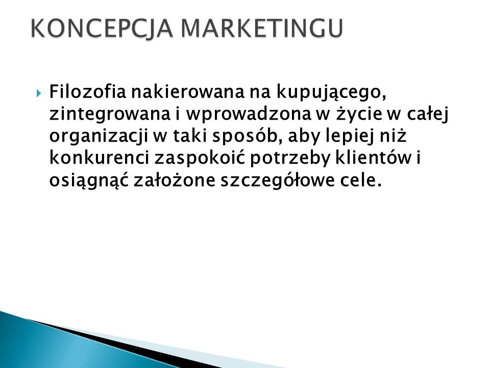 Koncepcja marketingu