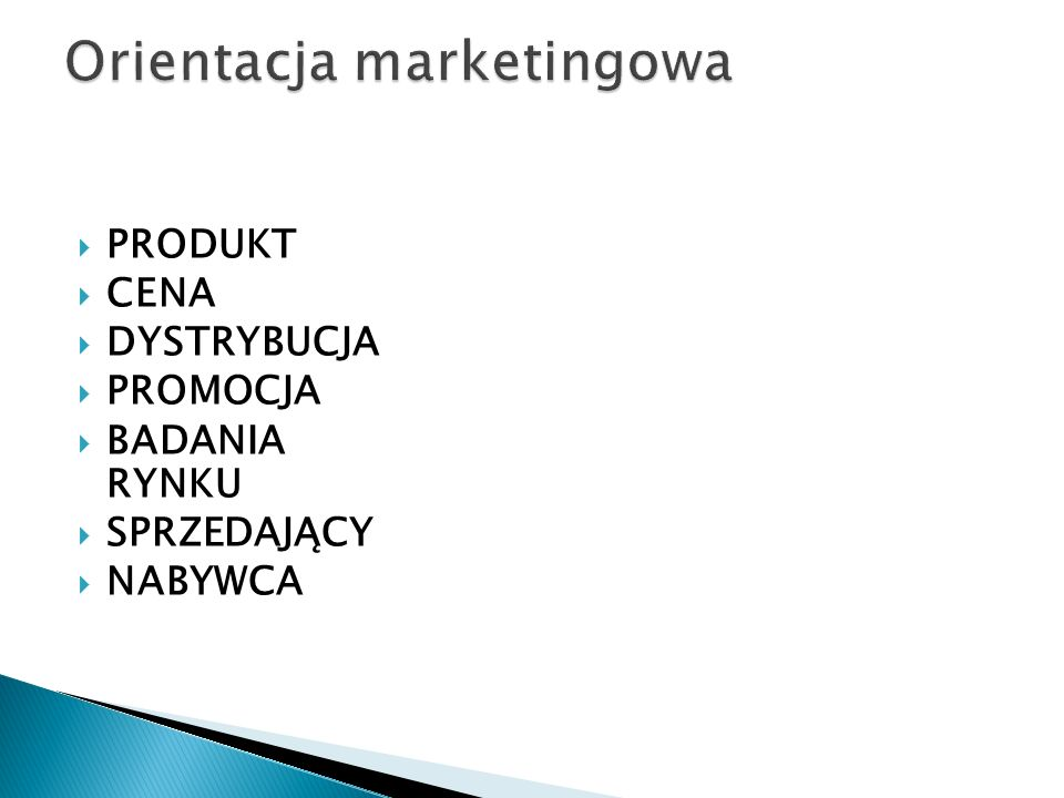 Orientacja marketingowa