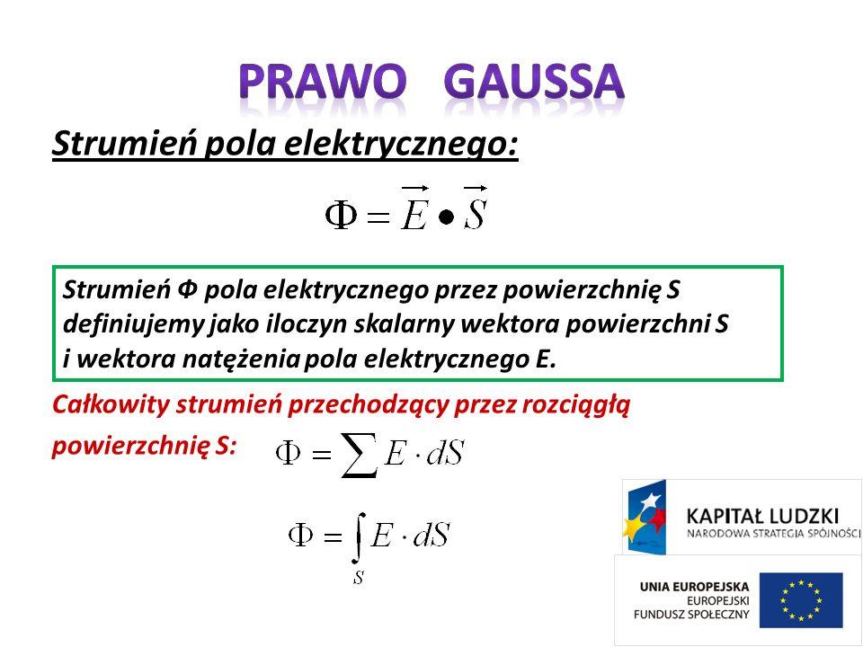 Prawo Gaussa Strumień pola elektrycznego: