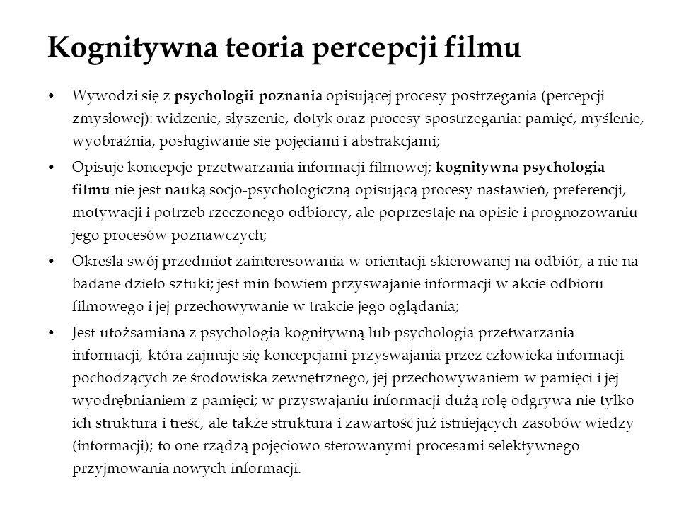 Kognitywna teoria percepcji filmu