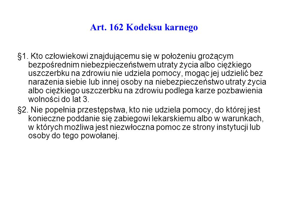 Art. 162 Kodeksu karnego