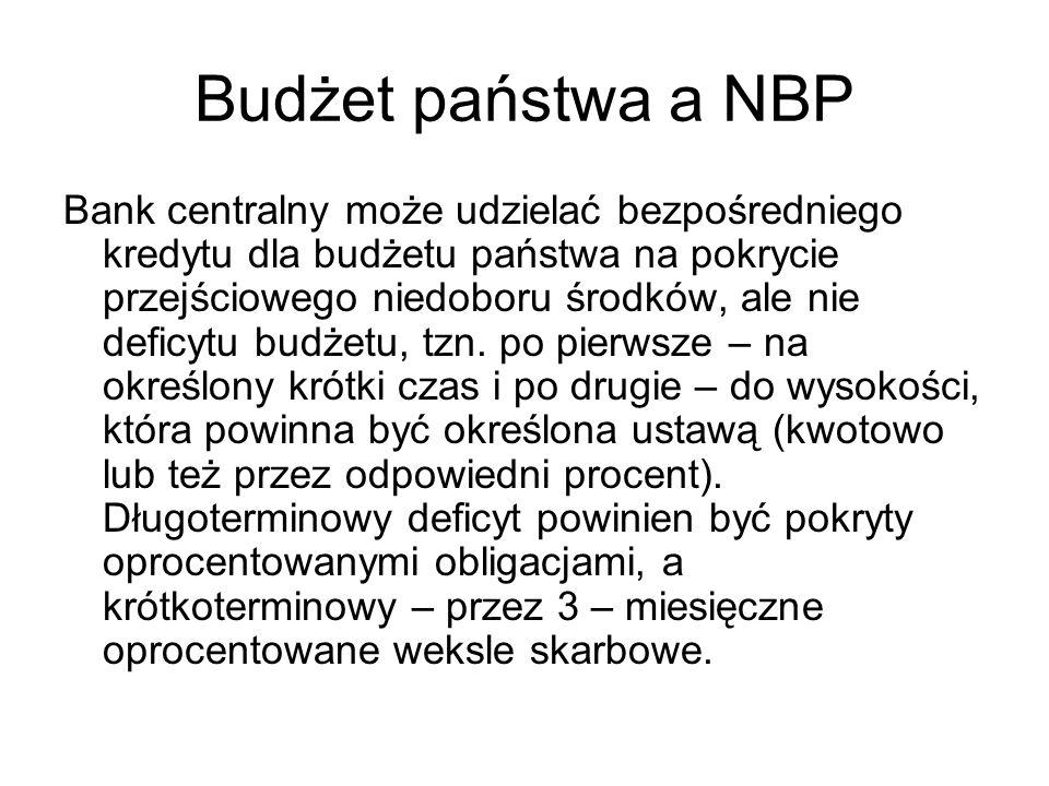 Budżet państwa a NBP