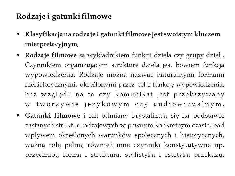 Rodzaje i gatunki filmowe