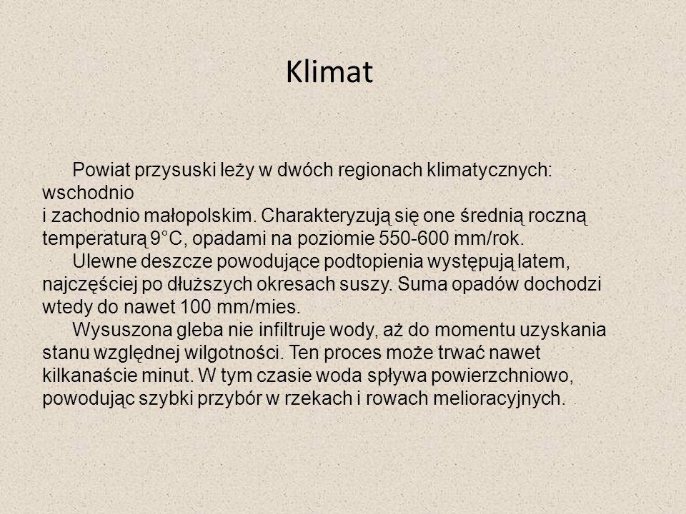 Klimat Powiat przysuski leży w dwóch regionach klimatycznych: wschodnio.