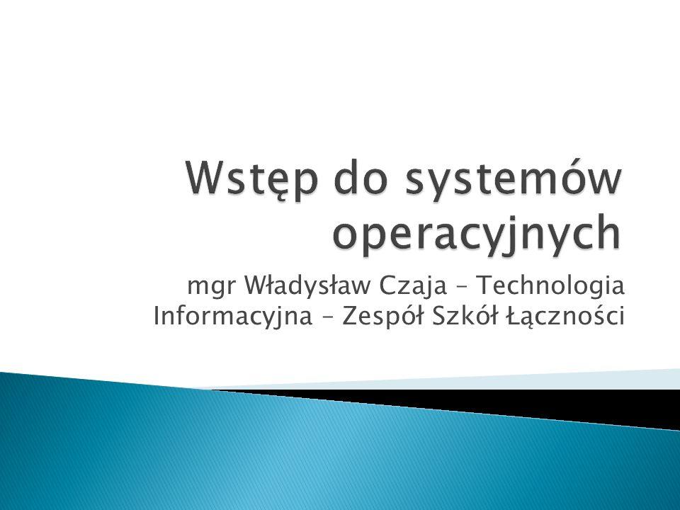 Wstęp do systemów operacyjnych
