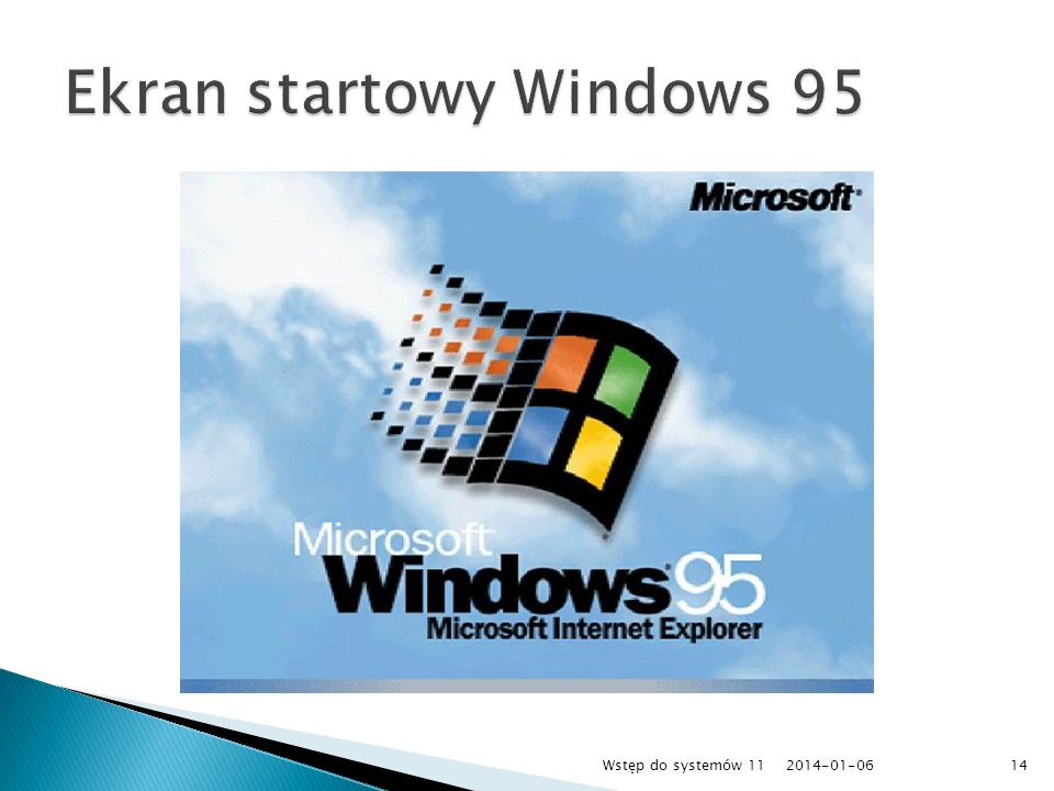 Ekran startowy Windows 95