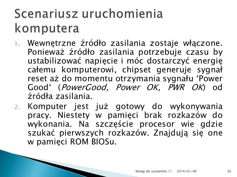 Scenariusz uruchomienia komputera