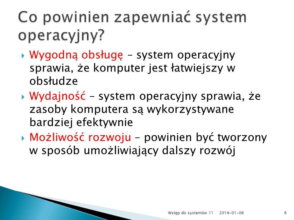 Co powinien zapewniać system operacyjny