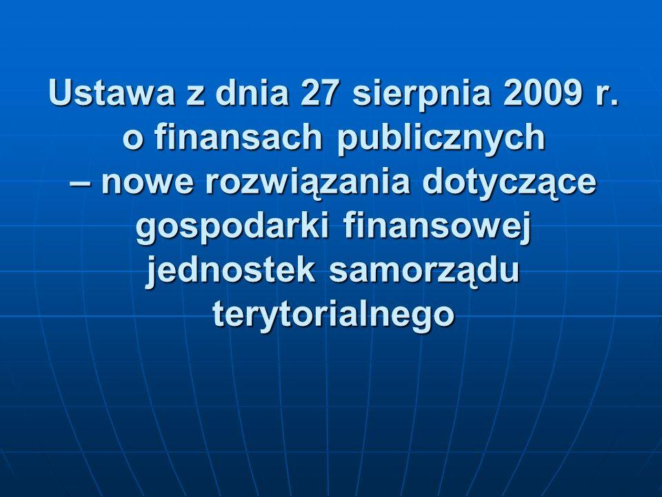 Ustawa z dnia 27 sierpnia 2009 r