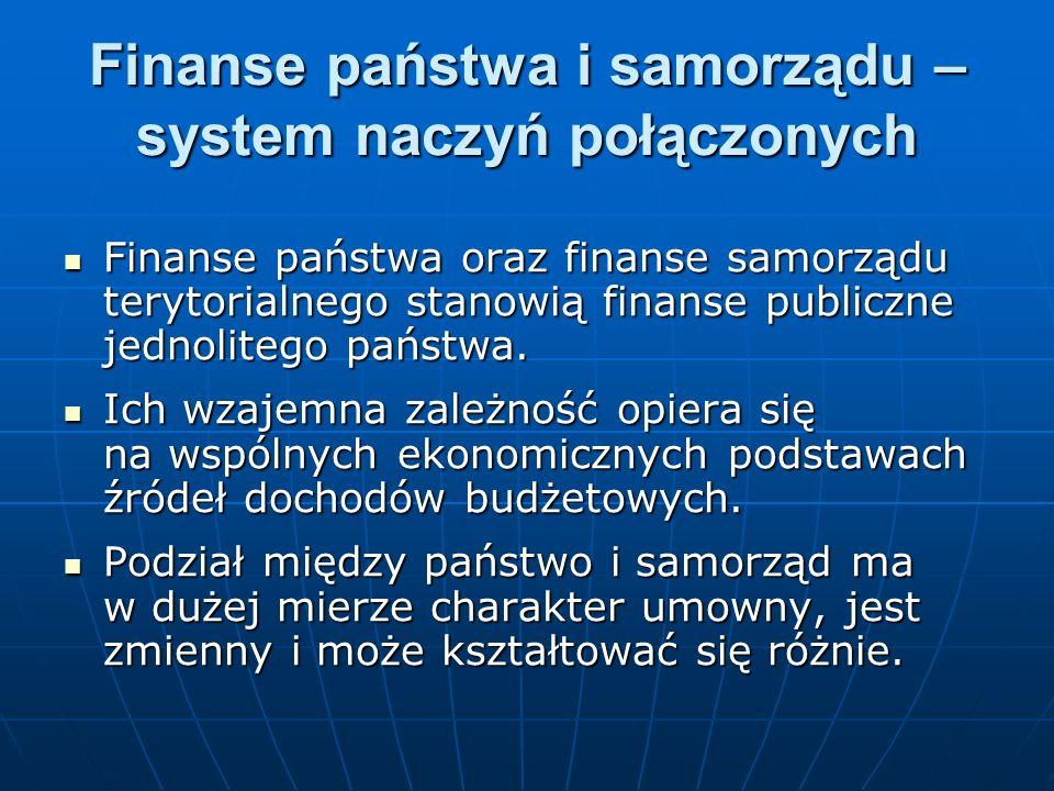 Finanse państwa i samorządu – system naczyń połączonych