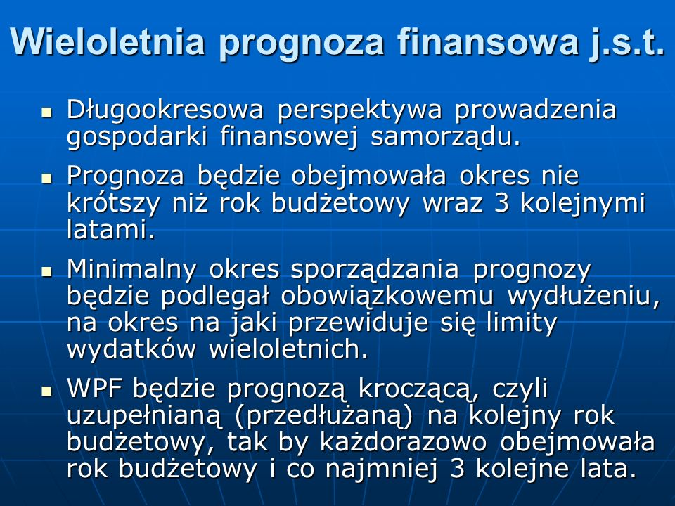 Wieloletnia prognoza finansowa j.s.t.