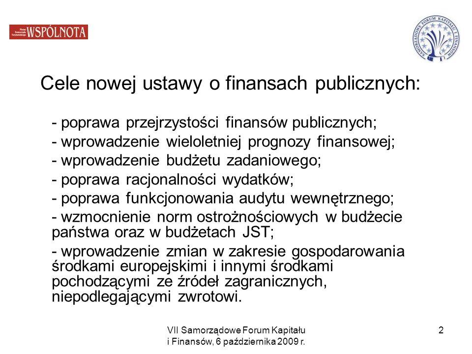 Cele nowej ustawy o finansach publicznych: