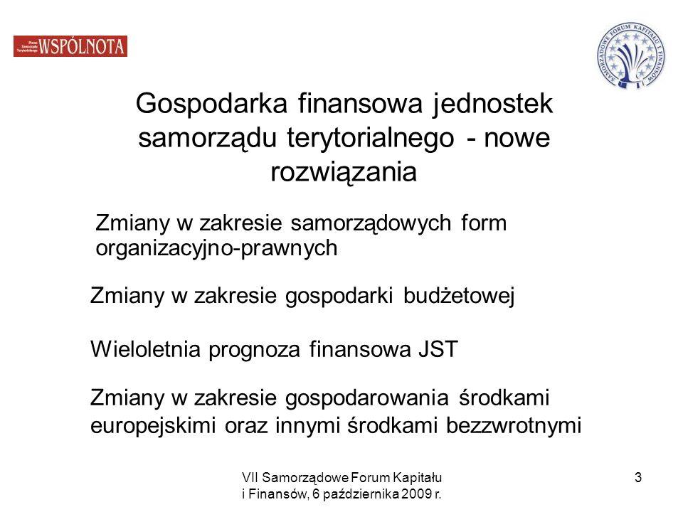 Zmiany w zakresie samorządowych form organizacyjno-prawnych