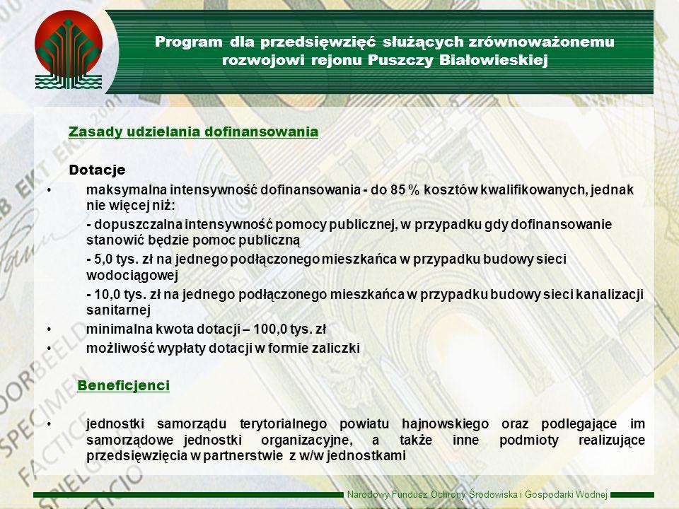 Program dla przedsięwzięć służących zrównoważonemu rozwojowi rejonu Puszczy Białowieskiej