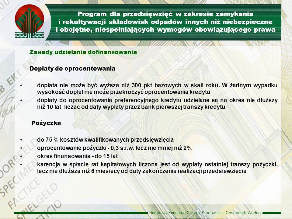 Program dla przedsięwzięć w zakresie zamykania i rekultywacji składowisk odpadów innych niż niebezpieczne i obojętne, niespełniających wymogów obowiązującego prawa
