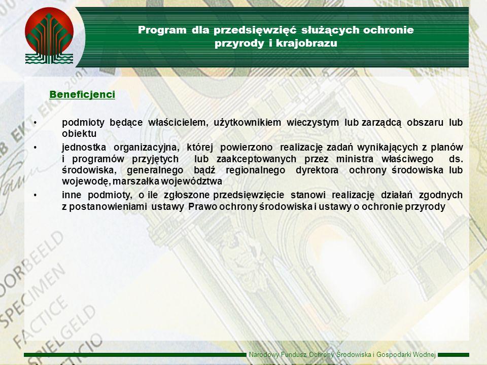 Program dla przedsięwzięć służących ochronie przyrody i krajobrazu