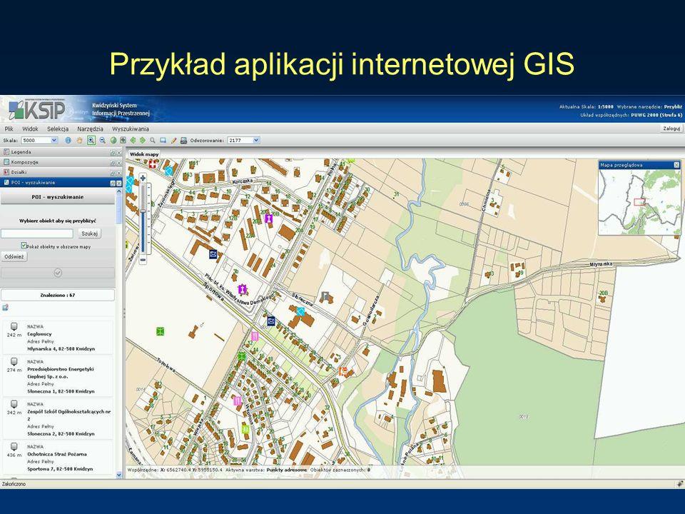 Przykład aplikacji internetowej GIS