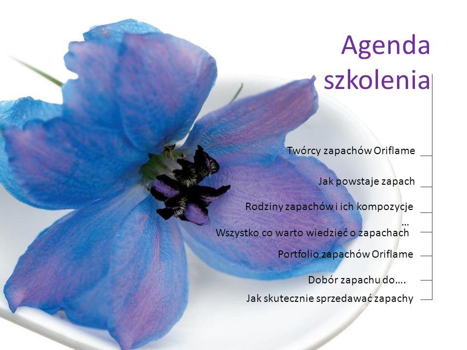 Agenda szkolenia Twórcy zapachów Oriflame Jak powstaje zapach