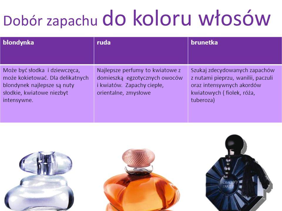 Dobór zapachu do koloru włosów