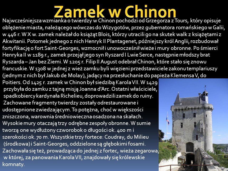 Zamek w Chinon