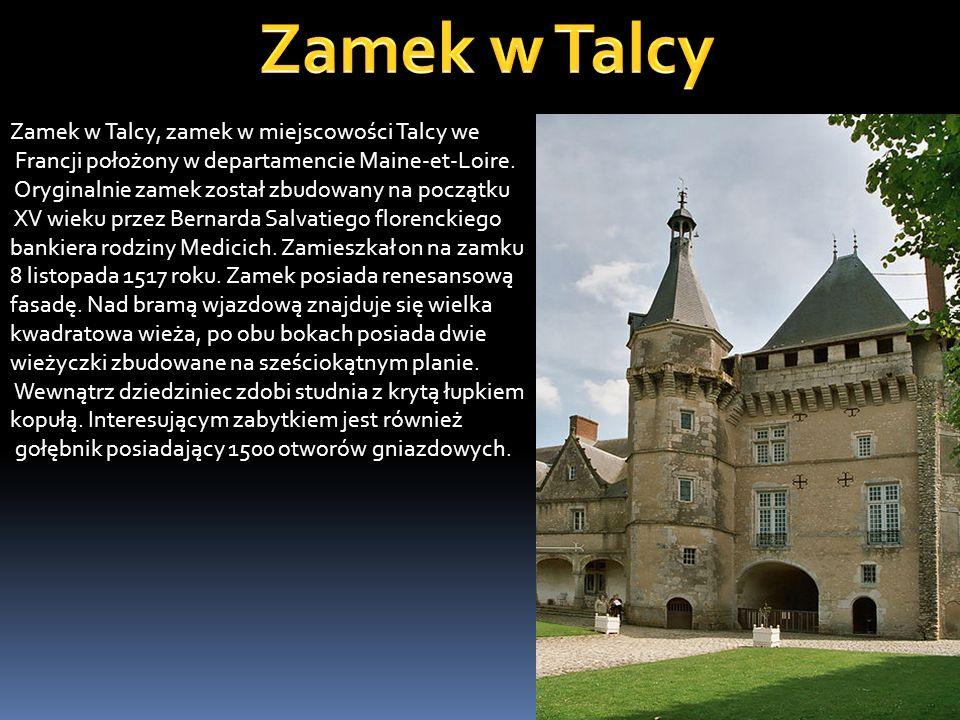 Zamek w Talcy Zamek w Talcy, zamek w miejscowości Talcy we