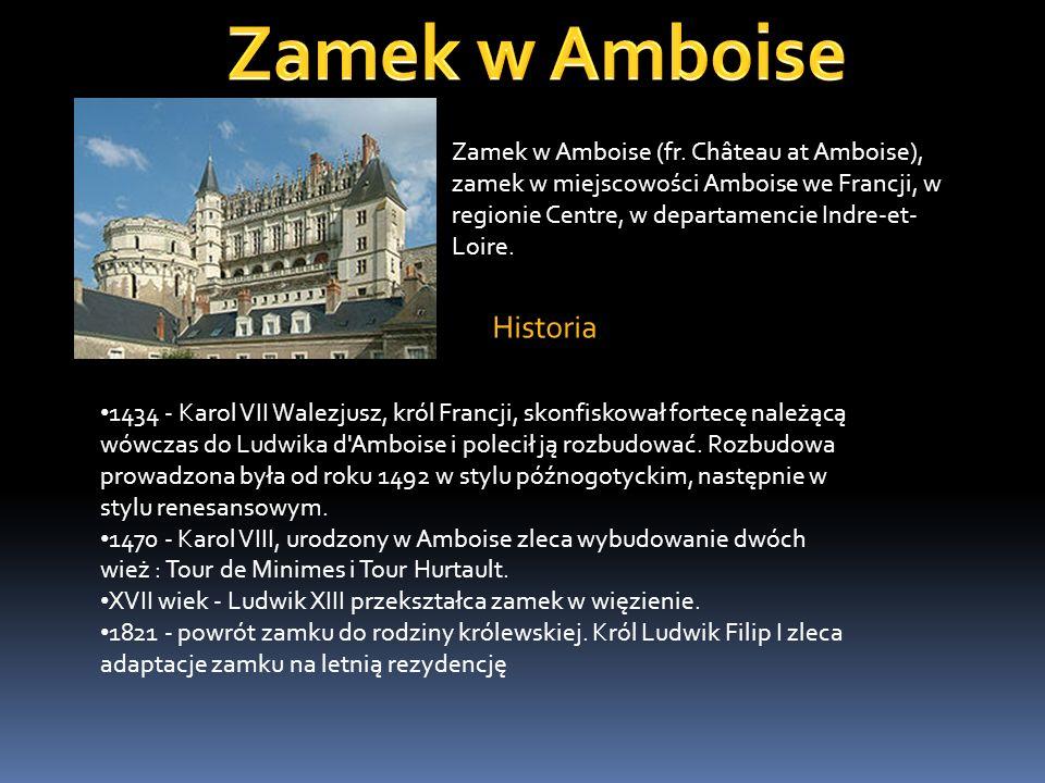 Zamek w Amboise Historia