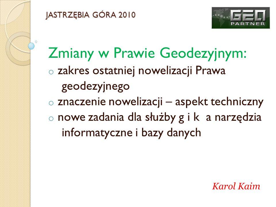 Zmiany w Prawie Geodezyjnym: