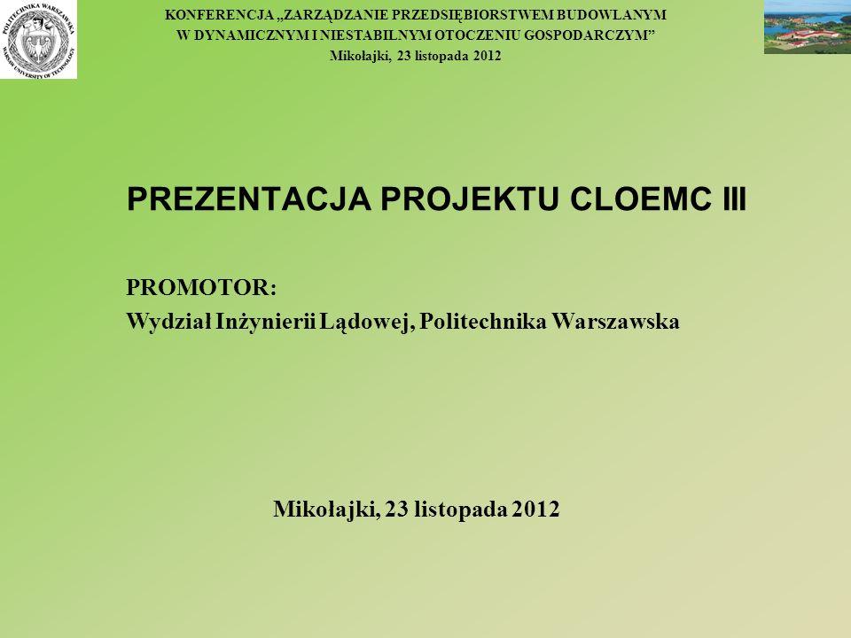 PREZENTACJA PROJEKTU CLOEMC III