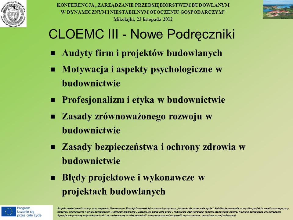 CLOEMC III - Nowe Podręczniki