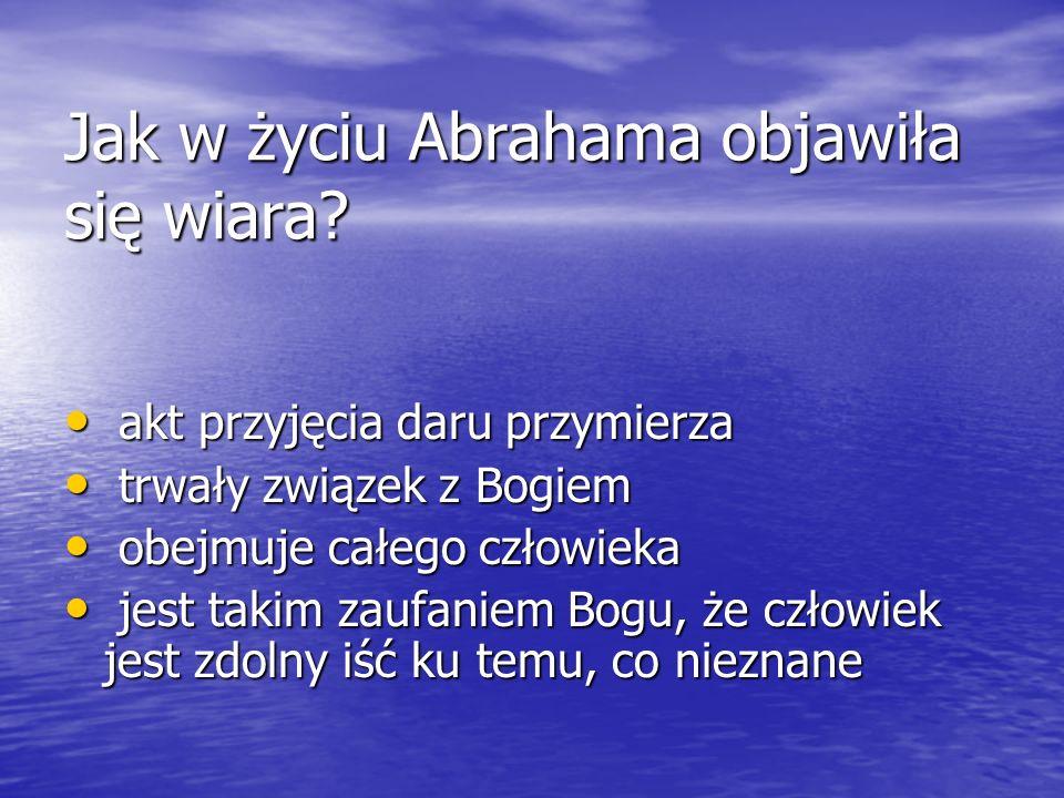 Jak w życiu Abrahama objawiła się wiara