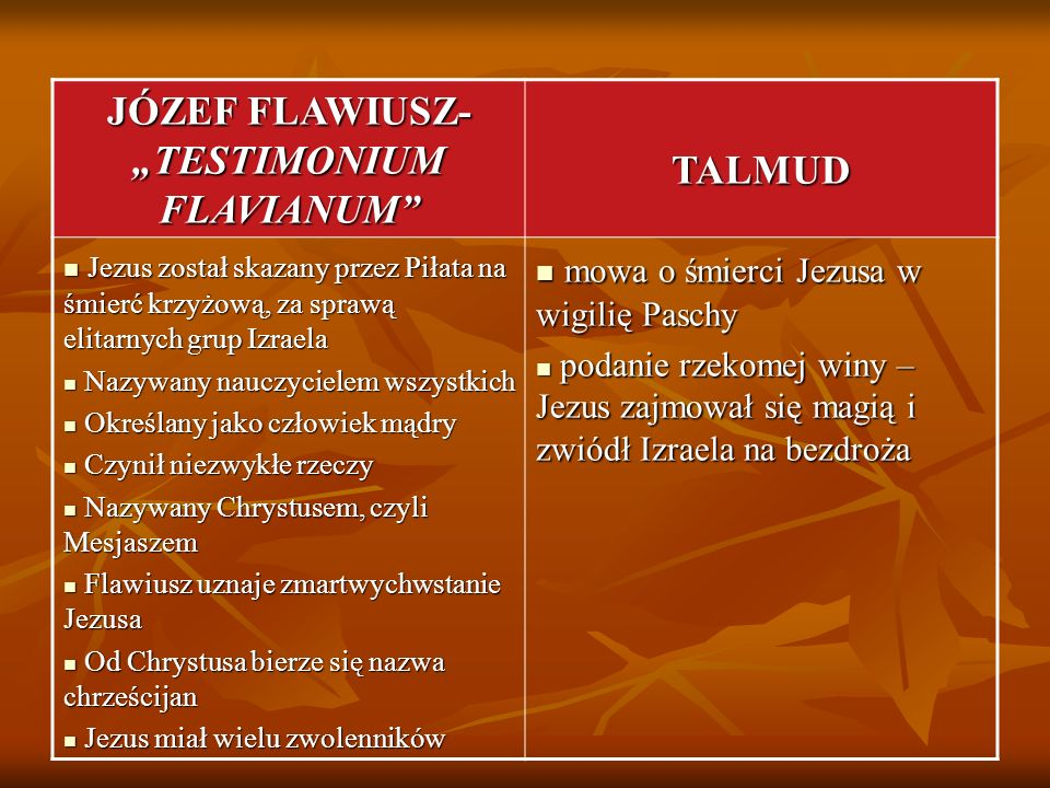 "JÓZEF FLAWIUSZ- ""TESTIMONIUM FLAVIANUM"
